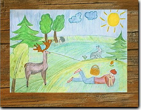 Как рисовать детскою природу